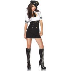 Costume Commandant de Bord Femme