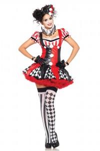 Costume Sexy Clown Arlequin Leg Avenue