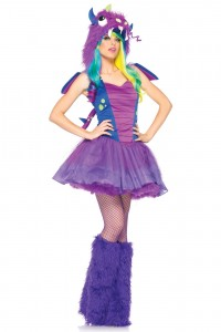 Costume Déguisement Monstre Dragon Girly Mauve