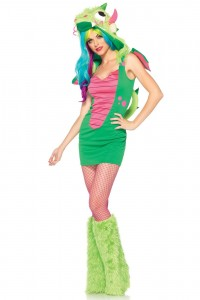 Costume Dragon Magique Vert Sexy Fun Halloween