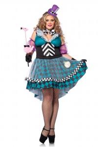 Costume Femme Mad Hatter Alice Grande Taille