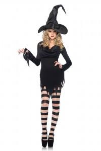 Base Costume Robe Noire Leg Avenue