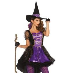 Costume Sorcière Sexy Chic Noire et Violet