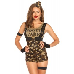 Costume Booty Camp Camouflage Militaire Sexy