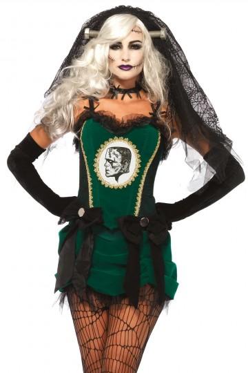 Costume Haut de Gamme Mariée de Frankenstein