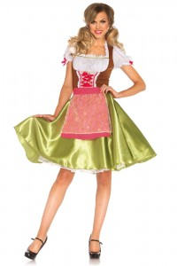 Costume Serveuse Alsacienne Bavaroise Greta Leg Avenue