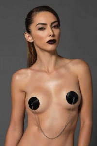Nipple Cache Tétons Satin & Chaine Kink Leg Avenue