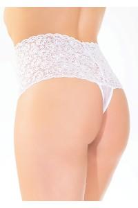 String Panty Haut Dentelle Blanche Coquette