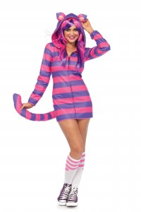Costume Cozy Petite Chatte Rayée Fluo