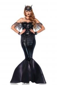 Costume Luxe Sirène Noire Leg Avenue