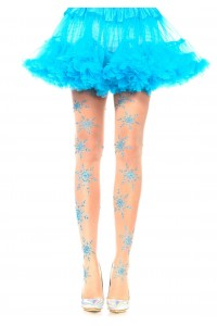 Collants Noel Flocons de Neige Pailletes Leg Avenue