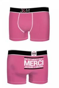 Boxer Jacquie et Michel Fuschia