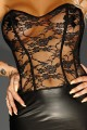 Robe Longue de Soirée Fetish Goddess Noir HandMade