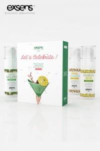 Coffret Huile Massage Comestible et Chauffante Let's Celebrate