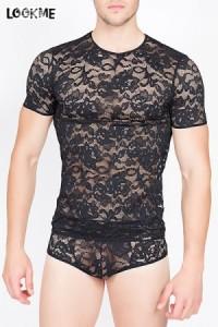 T-shirt Homme Dentelle Sensuality