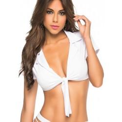 Top Sexy Blanc à Nouer