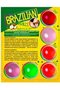 Boules Brésiliennes Massage Lubrifiant par 6