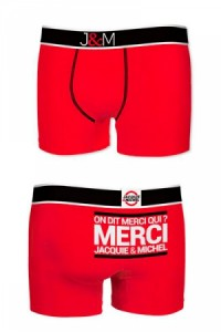 Boxer Jacquie et Michel Coton Rouge