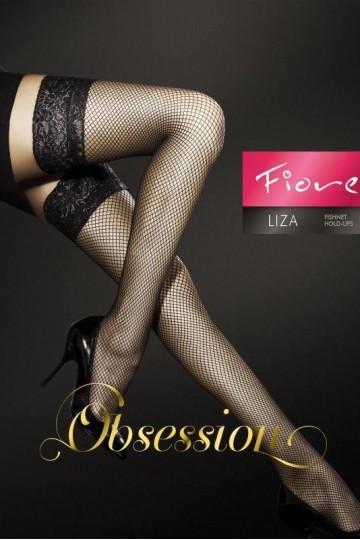 Bas Résille Sexy Chic Liza Noir Fiore