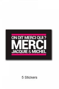 Pack 5 Autocollants Jacquie & Michel n°4