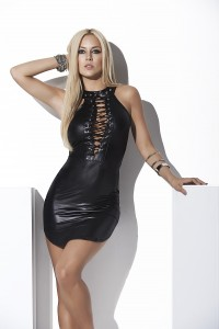 Robe Wetlook Noire Sexy Fetish Mapalé