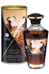 Huile Chauffante Aphrodisiaque Comestible Latte d'Amour Cremeux