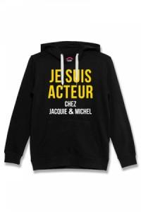 Sweat à Capuche Jacquie et Michel Acteur noir