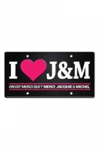 Plaque Métal I love Jacquie & Michel