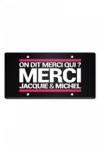 Plaque Métal on dit Merci Jacquie & Michel