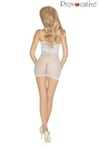 Robe Lingerie Nuisette Blanche Transparente Provocative