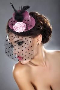 Mini Chapeau Rose à Voilette