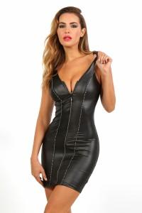 Robe Clubwear Noire Sans Manche Spazm
