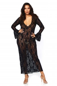 Robe Lingerie Longue Grande Taille Sexy