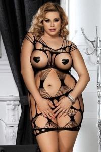 Robe Grande Taille Seins Nus Résille Ajourée Paris Hollywood Grande Taille IM#51668