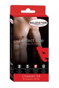 Préservatifs Perfect Size Cheetah 54mm