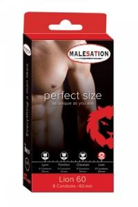 8 Préservatifs Perfect Size Lion 60mm
