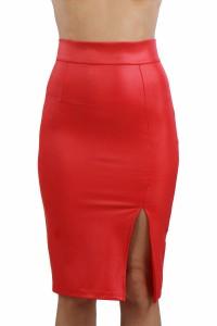 Jupe Longue Sexy Fendue Crayon Rouge