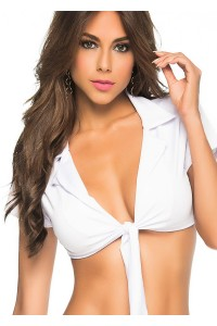 Top Sexy Blanc à Nouer Mapalé