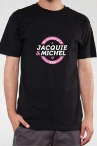 TShirt Officiel Jacquie et Michel Noir et Rose