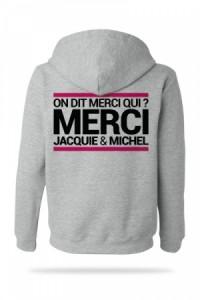 Sweat-Shirt Jacquie & Michel à Capuche Gris