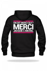 Sweat-Shirt Jacquie & Michel à Capuche Noir