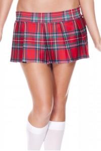 Mini Jupe Écossaise Sexy Plissée Rouge