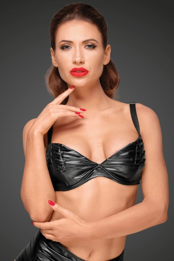 Top Bikini Fetish Noir Handmade