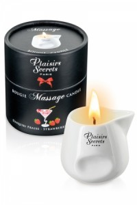 Bougie de massage - Daiquiri fraise Plaisirs secrets