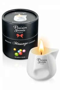 Bougie de massage - Buble gum Plaisirs secrets