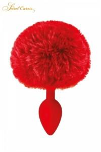 Plug Anal Pompon Rouge