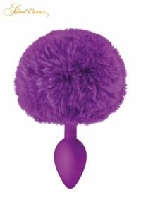 Plug Anal Pompon Violet
