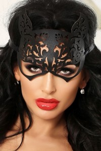 Masque Fetish Chatte Kitty Simili Cuir