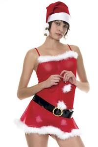 Robe Mère Noël Ceinture et Bonnet