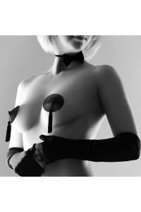 Cache Tétons Burlesque Nipples Noir Bijoux Indiscrets